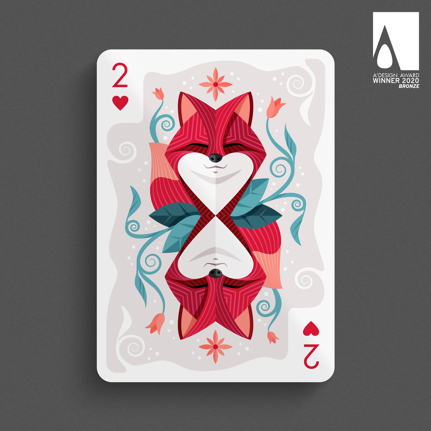2 of Hearts - Playing card